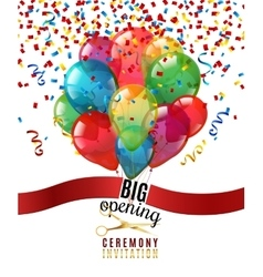 Opening Ceremony Invitation Background vector image