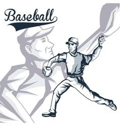Baseball player sport design graphic vector