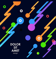 Abstract background with zip line and dots vector