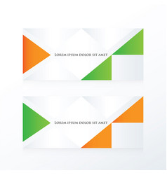 Abstract banner modern orange green vector
