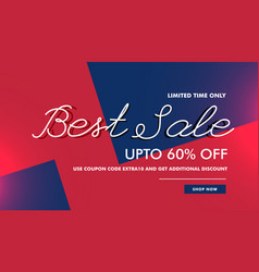 Best sale discount voucher banner template design vector