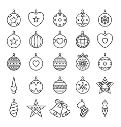 Black and white christmas balls vector image vector image