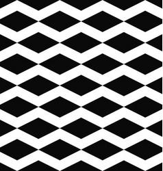 Black white seamless rhombus pattern background vector