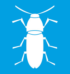 Cereal leaf beetle icon white vector