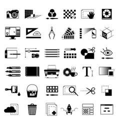 creative tools for graphic artists or web vector image vector image