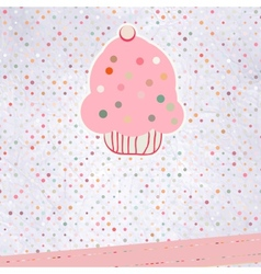 Cupcake please template design EPS 8 vector image