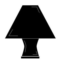Elegant table lamp icon vector