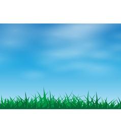 Green grass in a blue sky vector