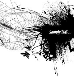 grunge frame background vector image