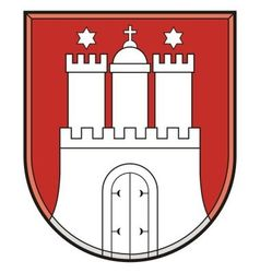 Hamburg coat of arms vector