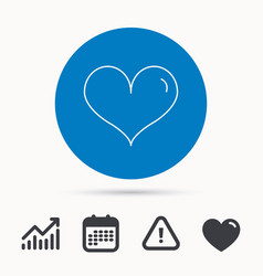 heart icon love sign vector image