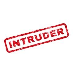 Intruder rubber stamp vector