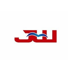 JW Logo Graphic Branding Letter Element vector image vector image