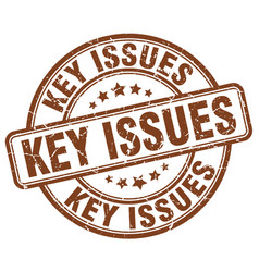 Key issues brown grunge stamp vector