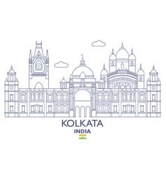 Kolkata city skyline vector