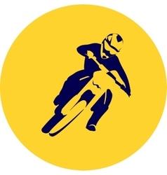 Motocross enduro racer vector image