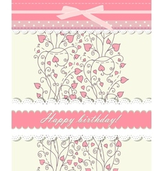 Pink background for valentine day card vector