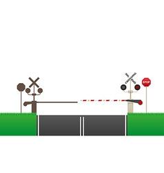 Railroad crossing 03 vector