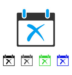 Reject calendar day flat icon vector