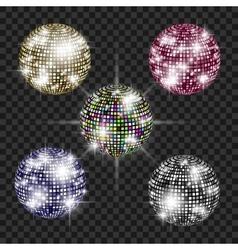 Set of disco balls vector
