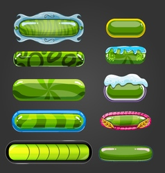 Set of green button for game design vector image vector image