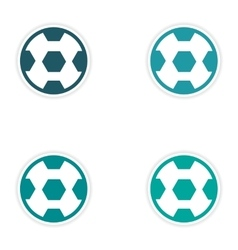 Set of stickers brazilian football on white vector