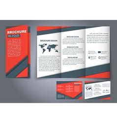 Template triple folding brochures vector image