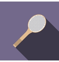Tennis racquet icon flat style vector