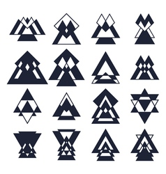 Trendy design elements Collection of geometric vector image