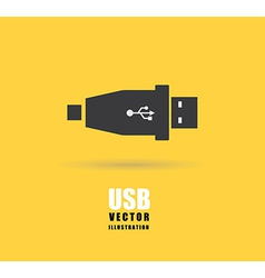usb connection vector image vector image