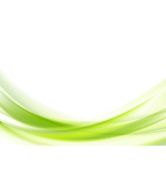 Vibrant green wavy design vector image