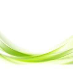 Vibrant green wavy design vector