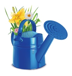 Watering with a bouquet vector