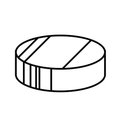 hockey puck disk vector image