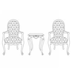 Elegant baroque luxury ornamented furniture vector