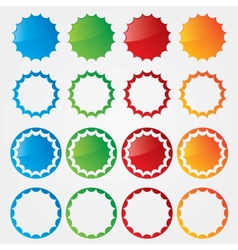 Colorful price tags collection vector image