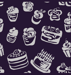 cake pattern vector image
