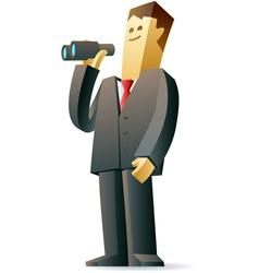 Businessman looking at future vector