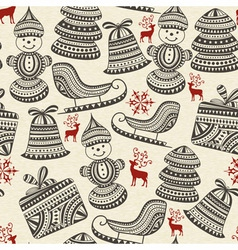 Holiday winter pattern vector