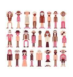 People icons on white vector