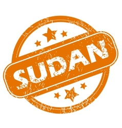 Sudan grunge icon vector