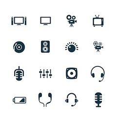 Device icons set vector