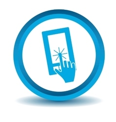 Smartphone touchscreen icon blue 3d vector
