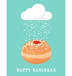 Abstract card for hanukka jewish holiday vector
