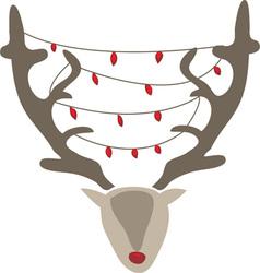 Xmas reindeer vector