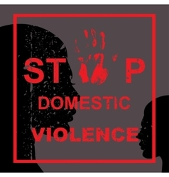 Stop domestic violence vector
