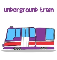 Collection transportation of underground train vector