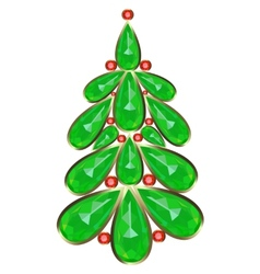 Decorative Christmas tree vector image vector image