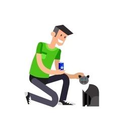 Detailed character volunteer design vector