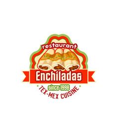 enchiladas mexican cuisine fast food icon vector image vector image
